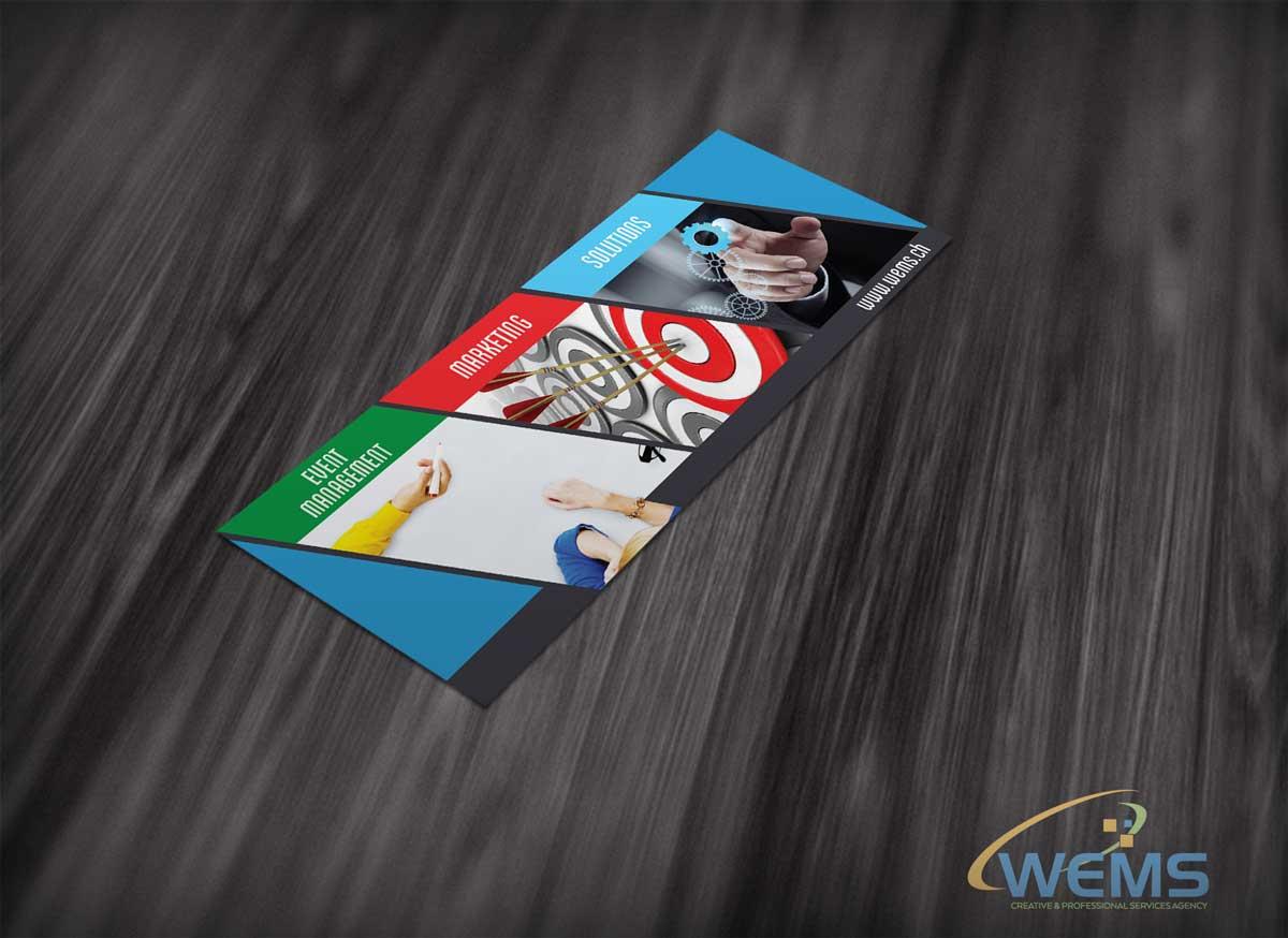 WEMS flyer 2 - Conception graphique - WEMS l'agence qui harmonise