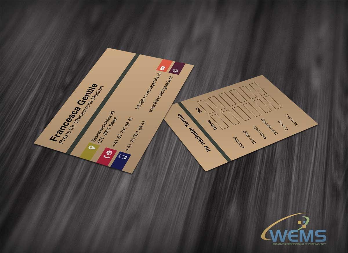 francesca gentile business card 2 - Conception graphique - WEMS l'agence qui harmonise
