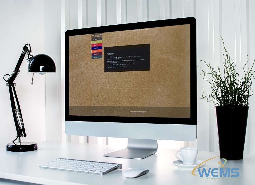 wems agency webdesign mockup Francescagentile - Webdesign und Suchmaschinenoptimierung (SEO) Agentur