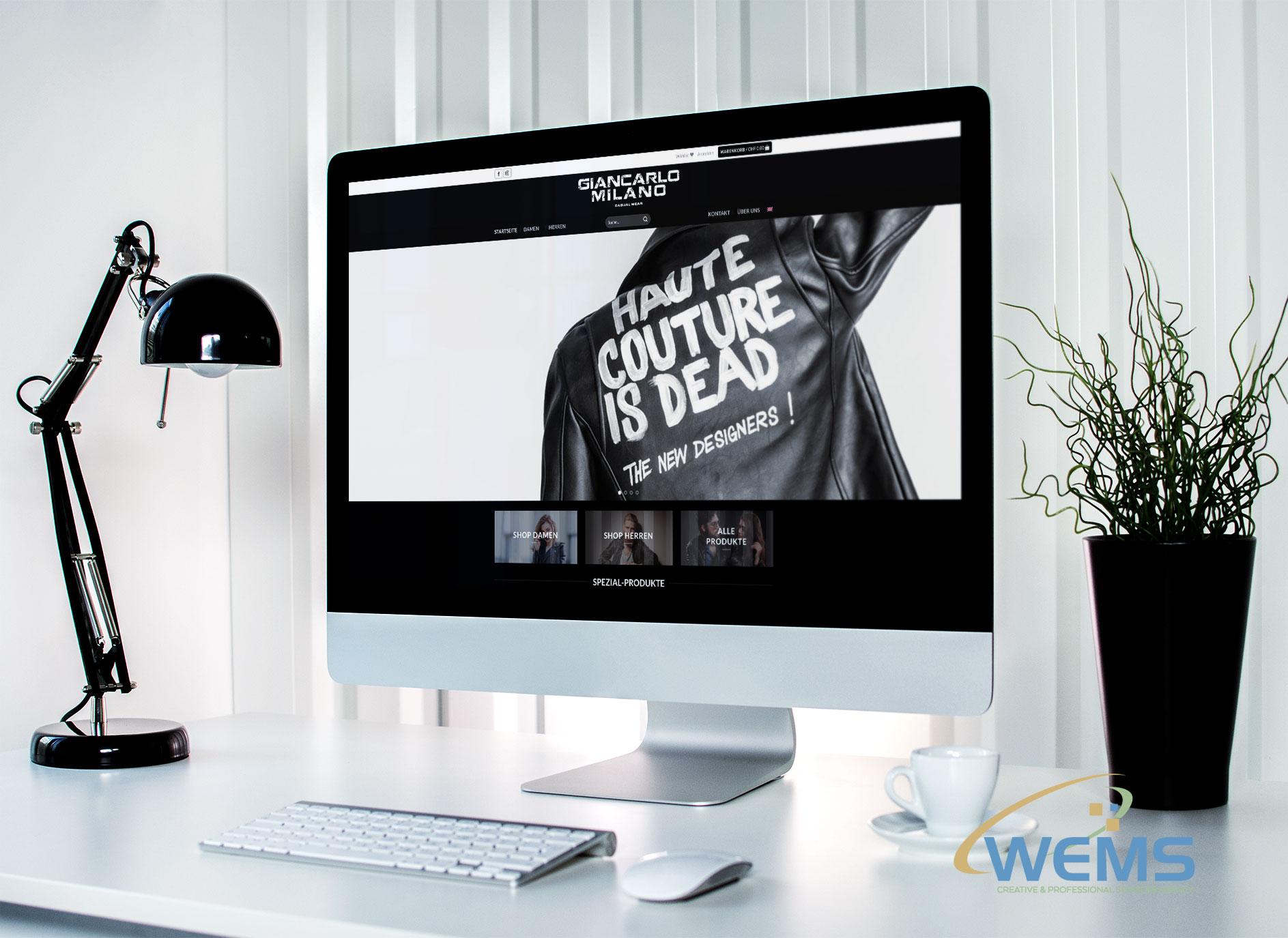 wems agency webdesign mockup Giancarlo Milano Casual Wear   Giancarlo Milano2 - Webdesign und Suchmaschinenoptimierung (SEO) Agentur
