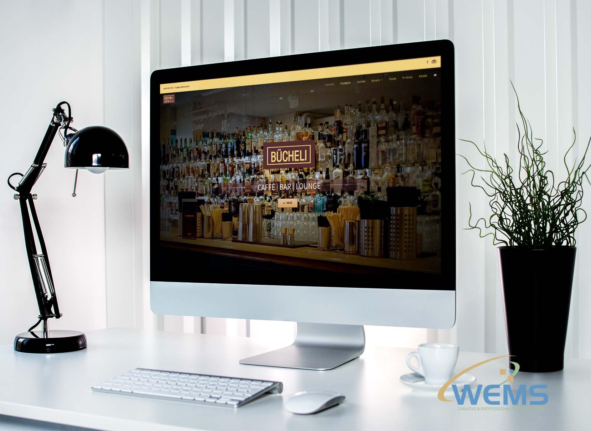 wems agency webdesign mockup bücheli basel - Webdesign und Suchmaschinenoptimierung (SEO) Agentur
