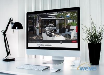 wems agency webdesign mockup barber club 400x291 - Conception de sites web à Lausanne, Genève, Bâle, Zürich et en Suisse
