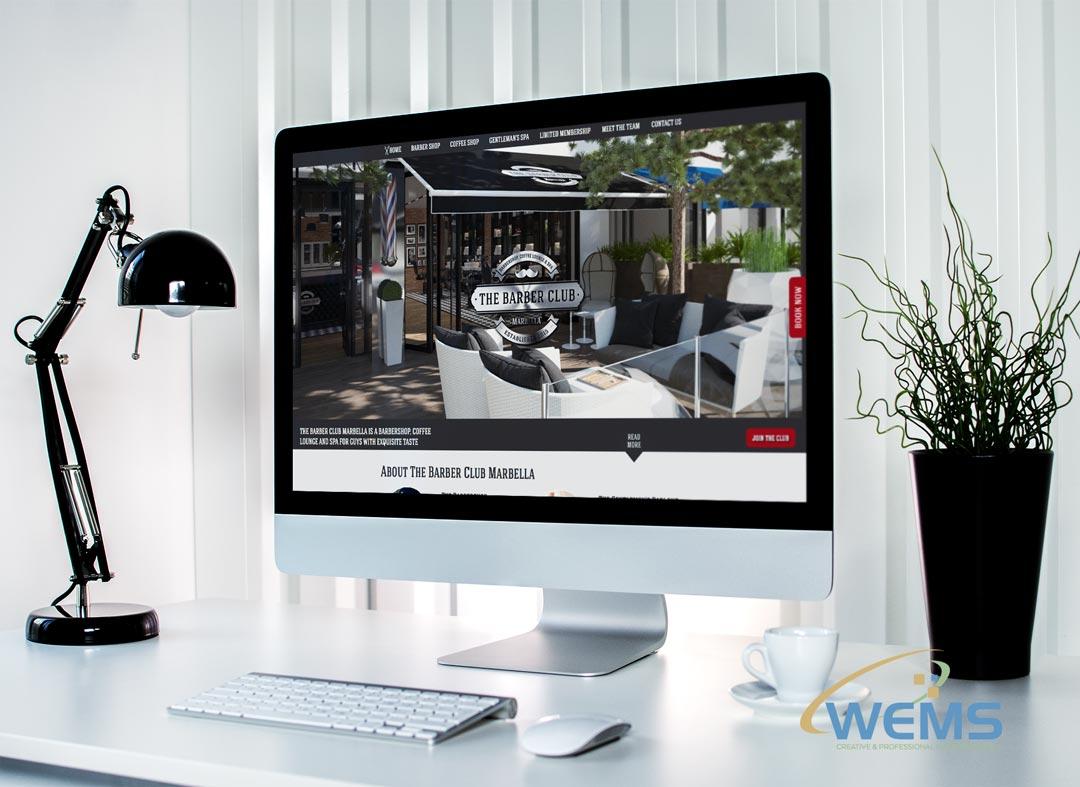 wems agency webdesign mockup barber club - Webdesign und Suchmaschinenoptimierung (SEO) Agentur