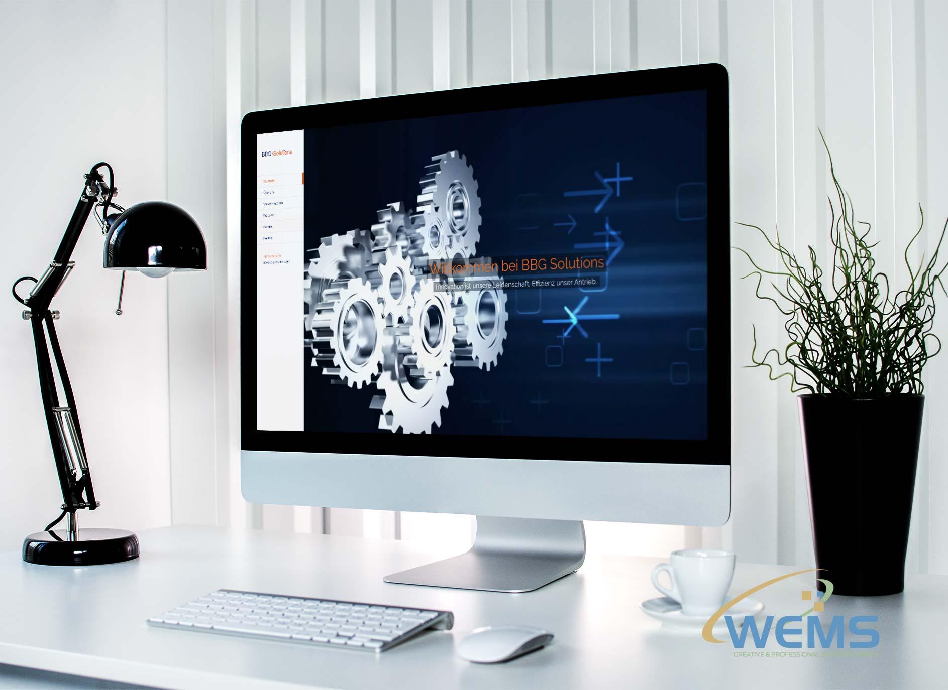 wems agency webdesign mockup bbg solutions 1 - Webdesign et optimisation pour les moteurs de recherche (SEO)