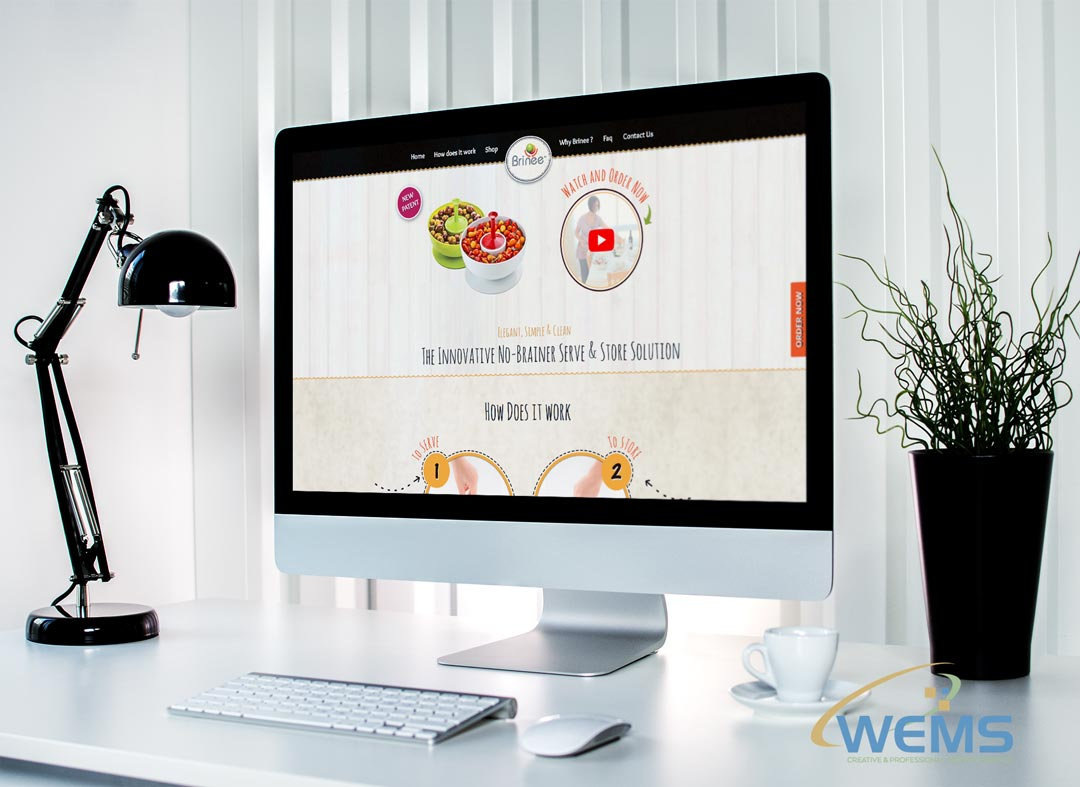 wems agency webdesign mockup brinee 2 - Webdesign Agency with search engine optimization (SEO)