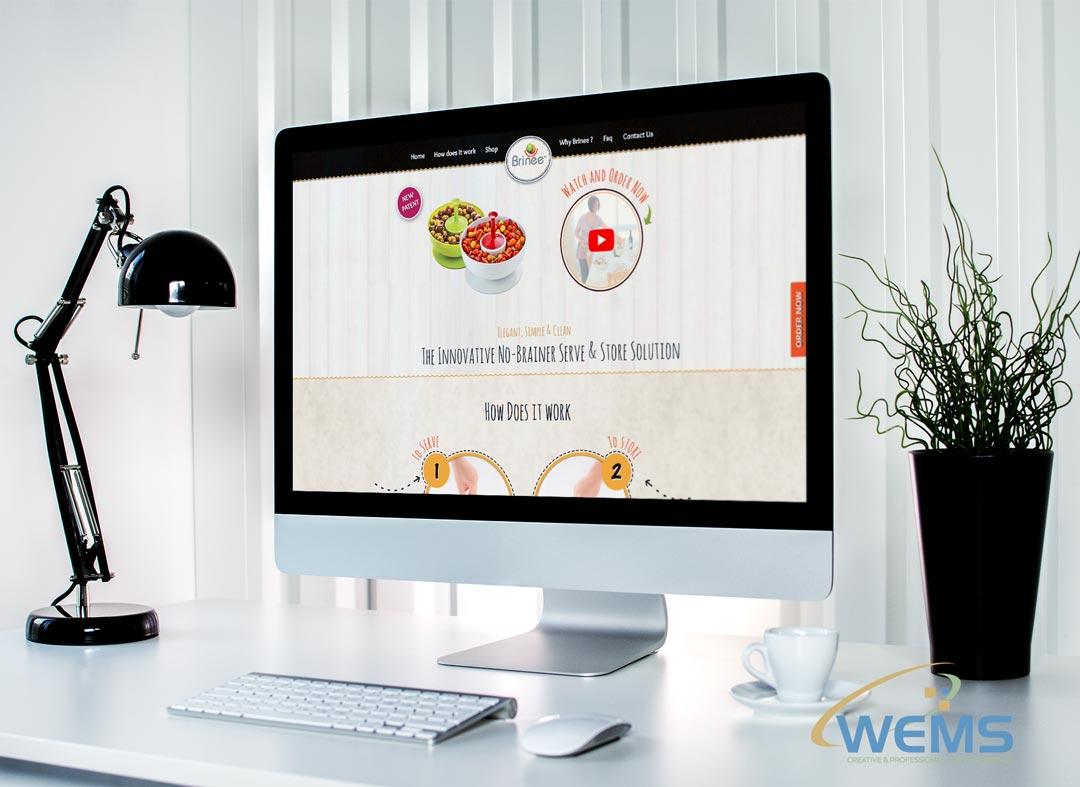 wems agency webdesign mockup brinee - Webdesign und Suchmaschinenoptimierung (SEO) Agentur