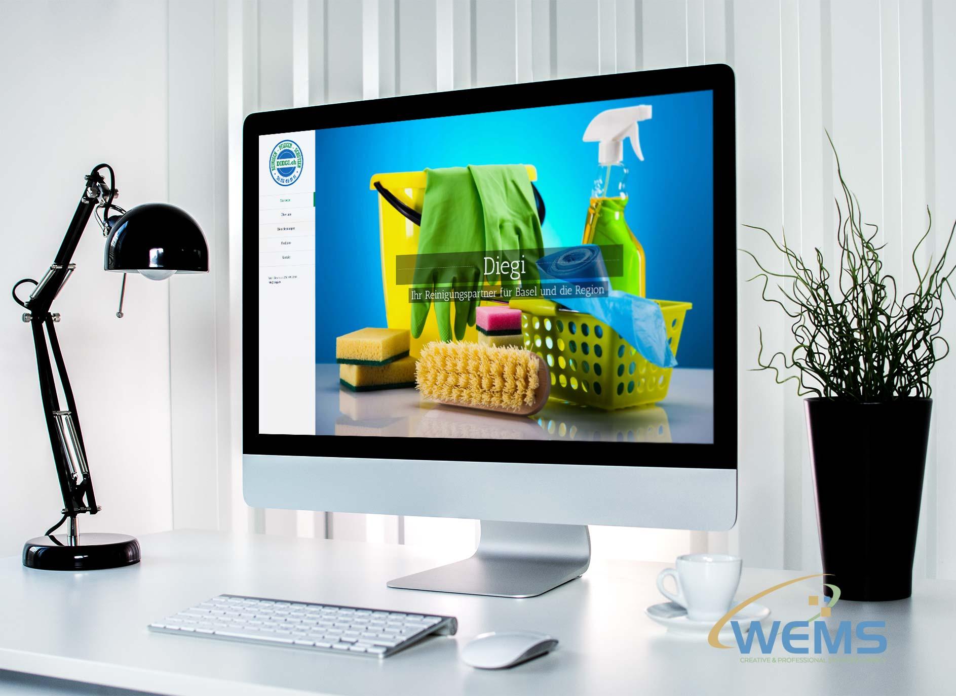 wems agency webdesign mockup diegi - Webdesign und Suchmaschinenoptimierung (SEO) Agentur