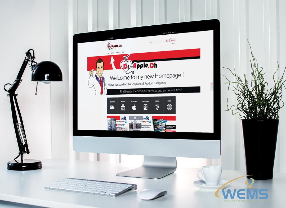wems agency webdesign mockup dr apple 2 - Webdesign Agency with search engine optimization (SEO)