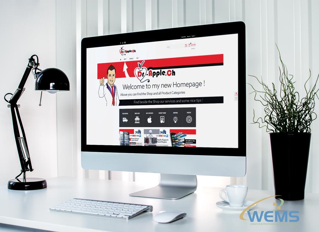 wems agency webdesign mockup dr apple - Webdesign und Suchmaschinenoptimierung (SEO) Agentur