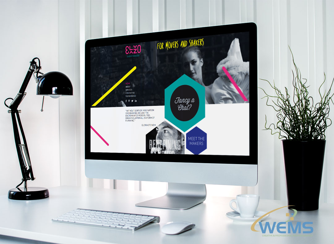 wems agency webdesign mockup elzo - Webdesign und Suchmaschinenoptimierung (SEO) Agentur