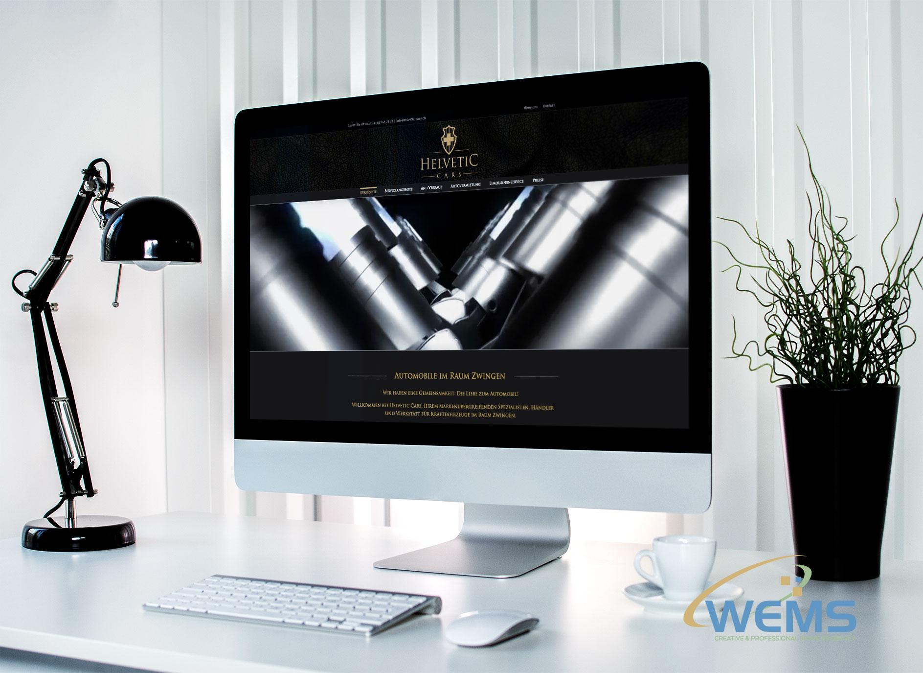 wems agency webdesign mockup helvetic cars - Webdesign und Suchmaschinenoptimierung (SEO) Agentur