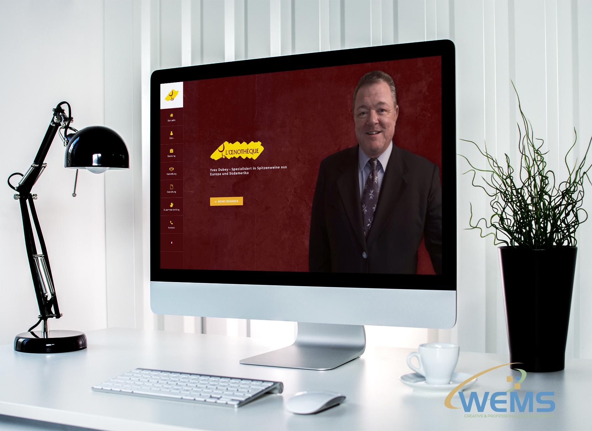 wems agency webdesign mockup l oenotheque mockup - Webdesign und Suchmaschinenoptimierung (SEO) Agentur