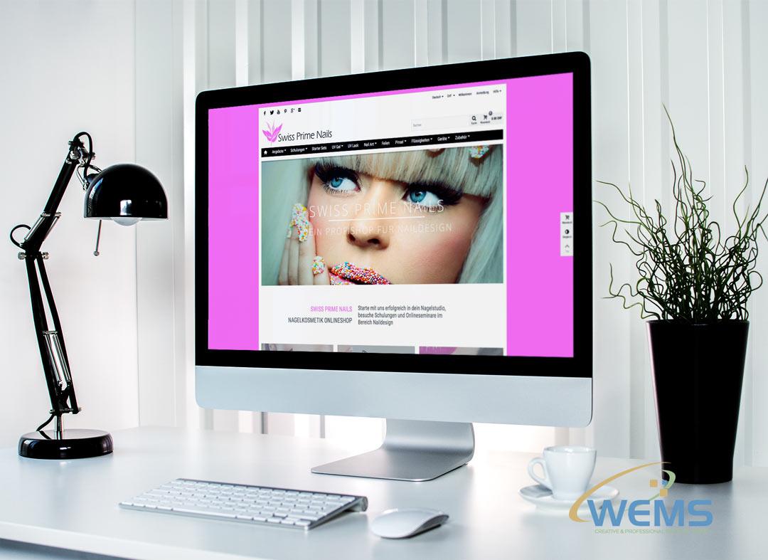 wems agency webdesign mockup swiss prime nails.ch  - Webdesign und Suchmaschinenoptimierung (SEO) Agentur