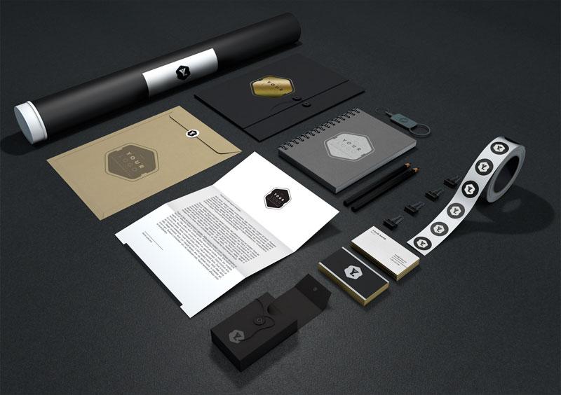 wems agentur Gestaltung von Schreibwaren schwarz - Professionelles Grafik Design Agentur | WEMS Agency