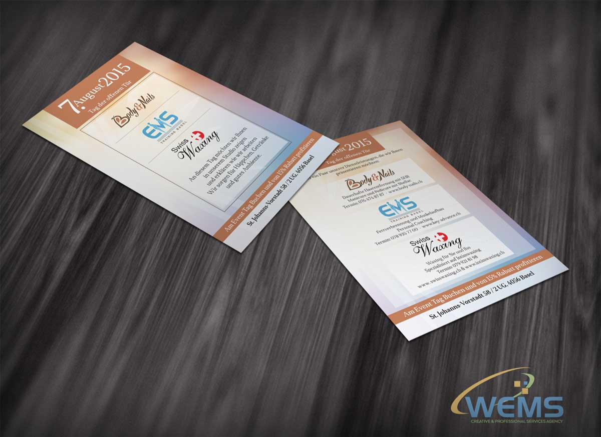 wems body nails flyer - Graphic Design, Logo Design, Corporate Identity Design | WEMS Agency