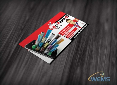 wems dr apple app flyer 2 400x291 - Conception graphique - WEMS l'agence qui harmonise