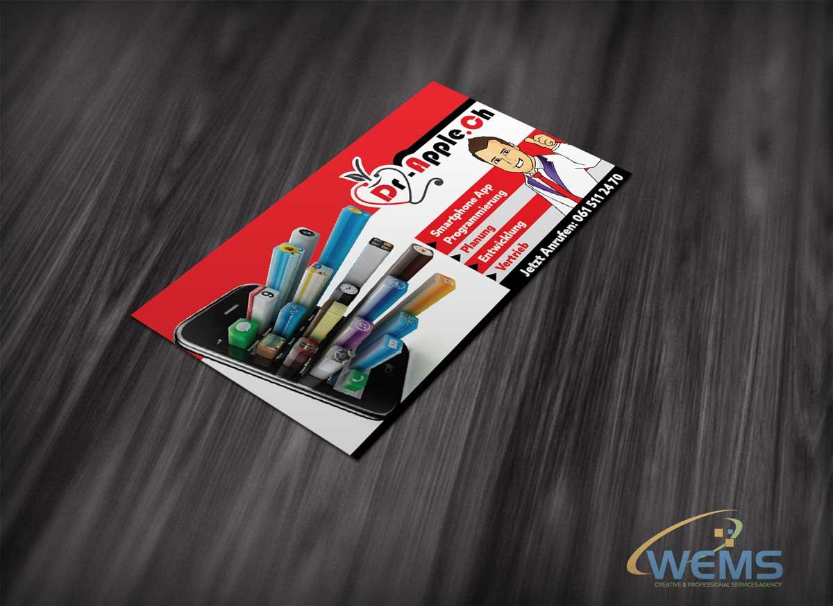 wems dr apple app flyer - Graphic Design, Logo Design, Corporate Identity Design | WEMS Agency