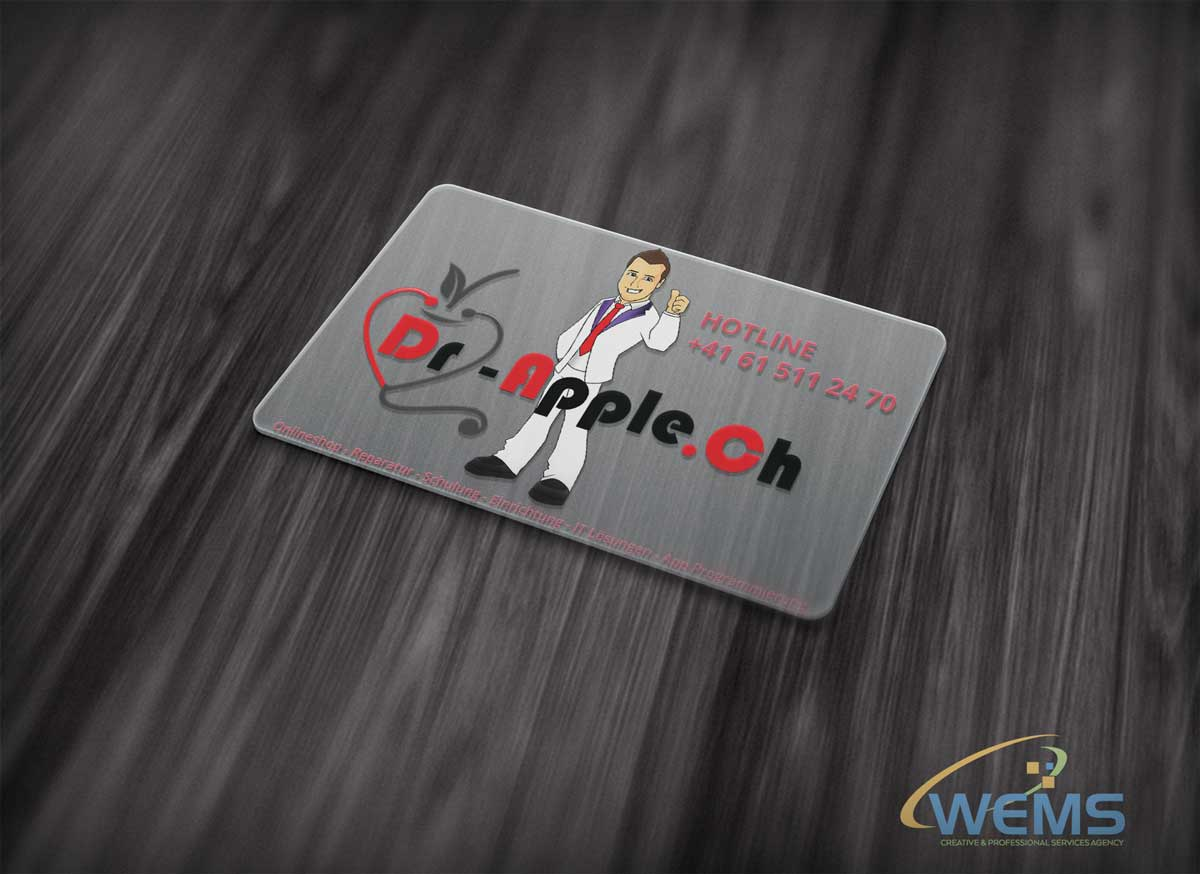wems dr apple business card - Graphic Design, Logo Design, Corporate Identity Design | WEMS Agency