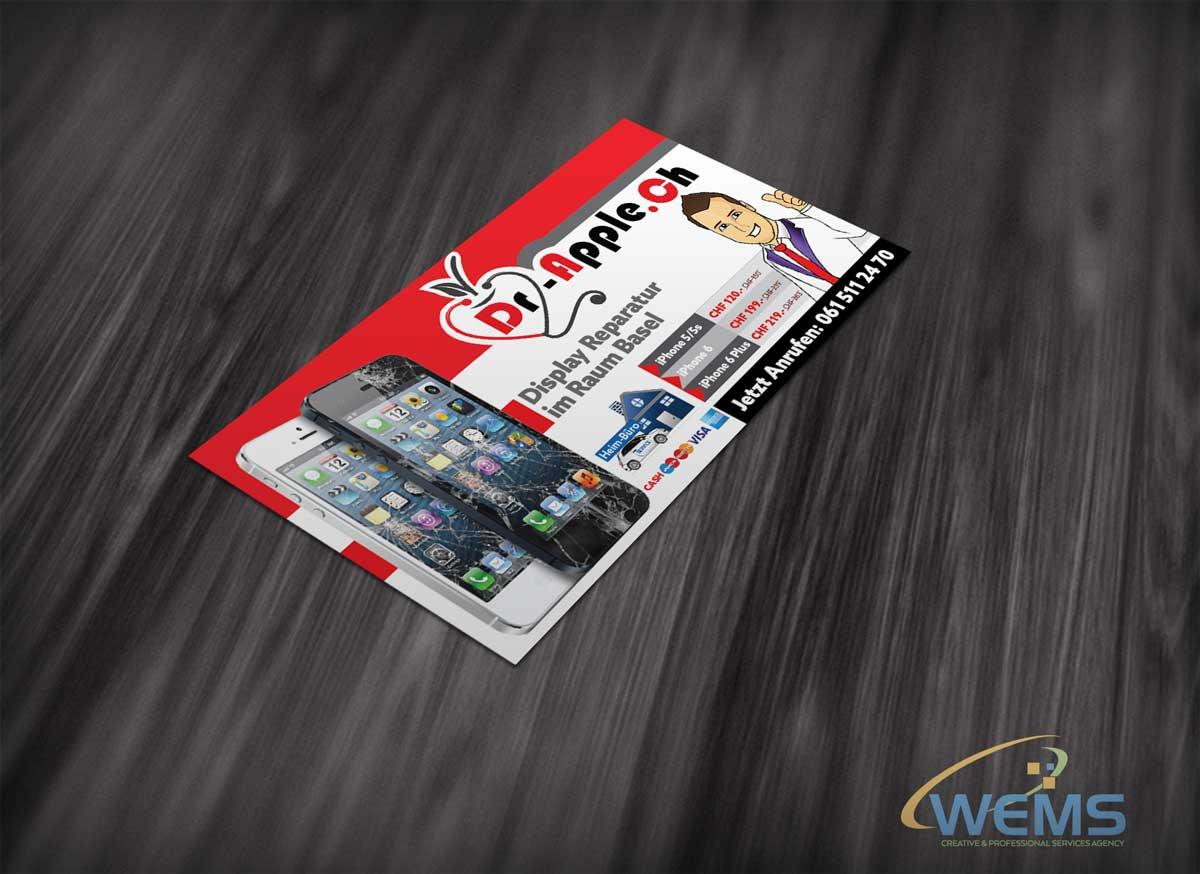 wems dr apple display flyer - Graphic Design, Logo Design, Corporate Identity Design | WEMS Agency