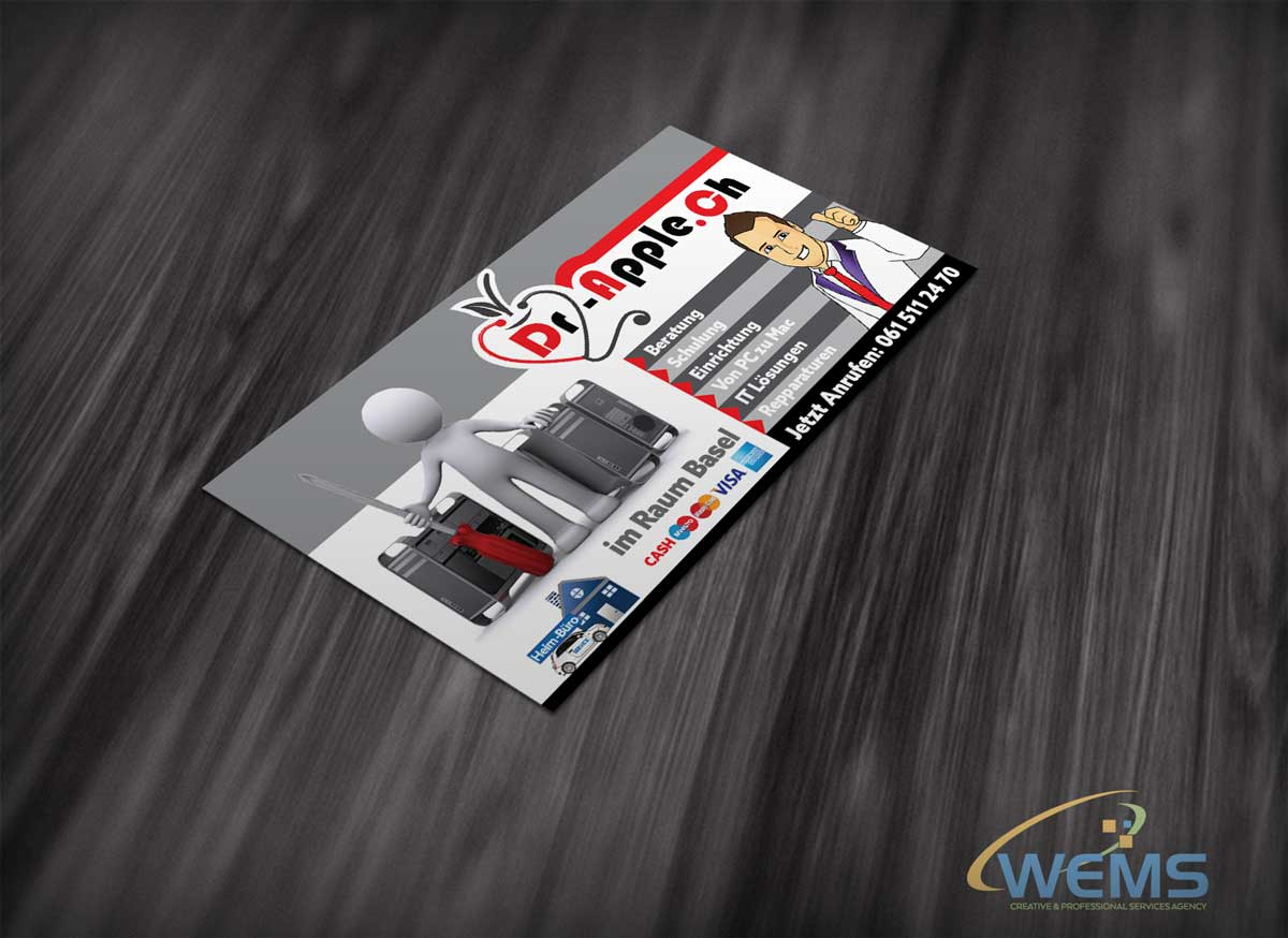 wems dr apple support flyer - Graphic Design, Logo Design, Corporate Identity Design | WEMS Agency