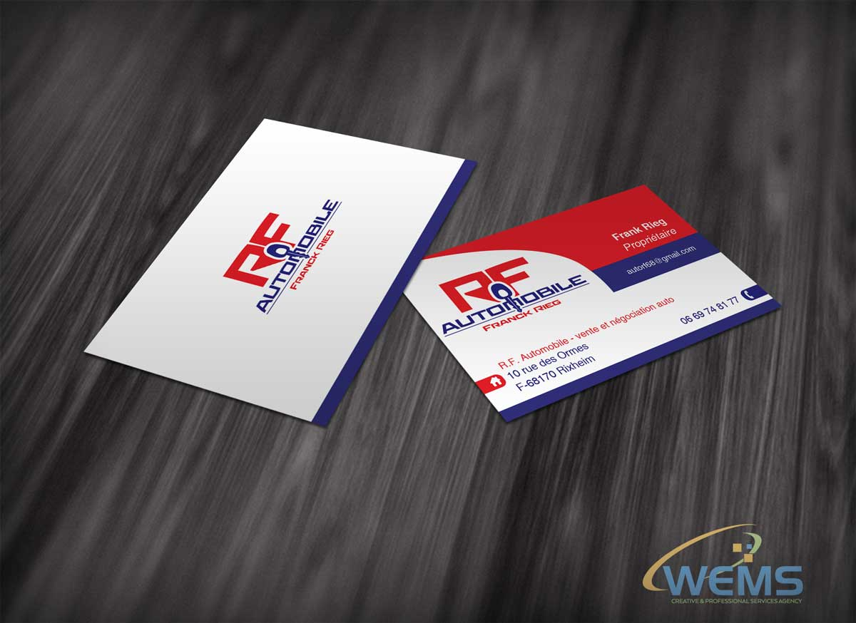 wems fr automobile businesscard - Graphic Design, Logo Design, Corporate Identity Design | WEMS Agency