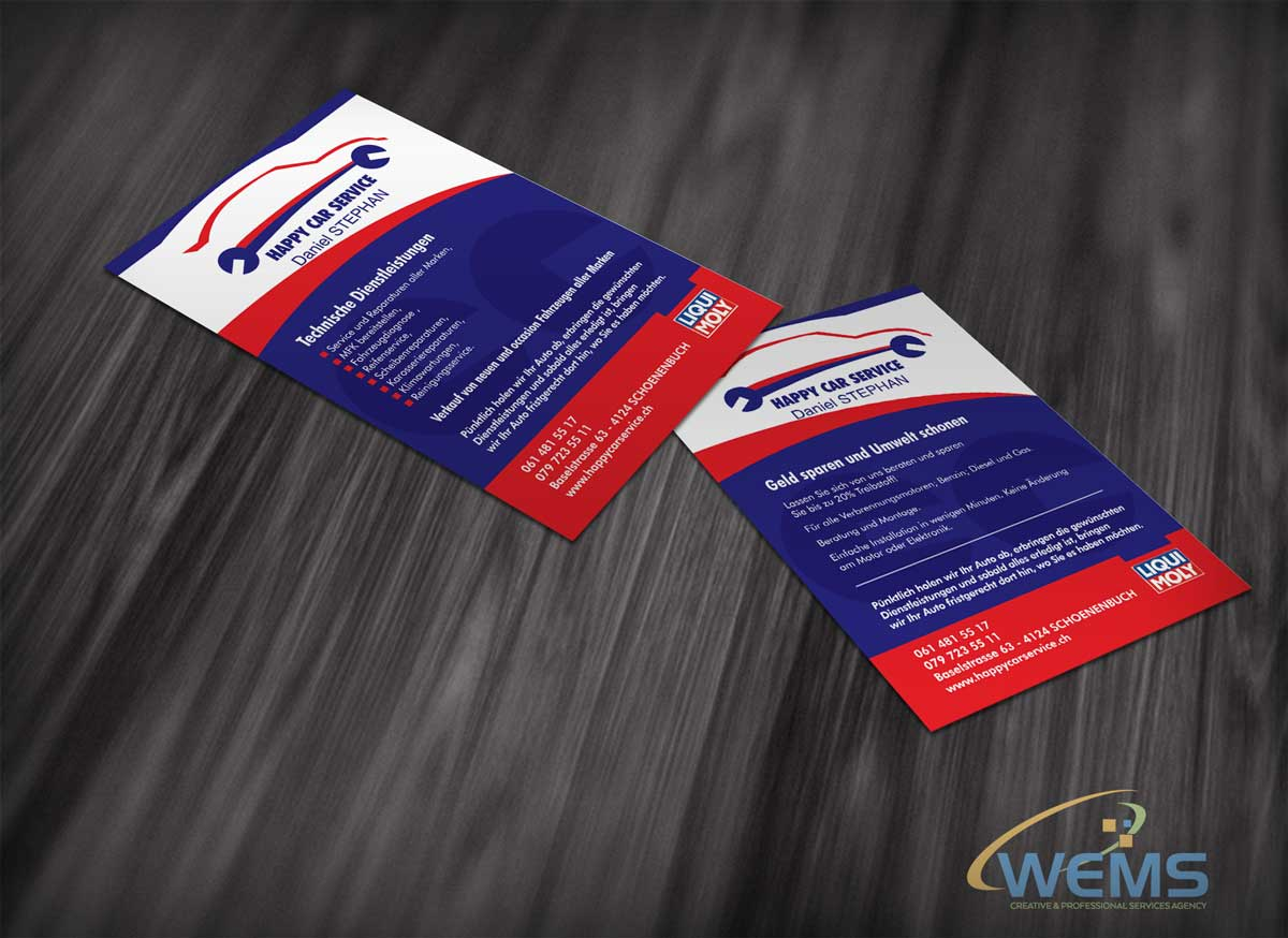 wems happy car service flyer - Graphic Design, Logo Design, Corporate Identity Design | WEMS Agency