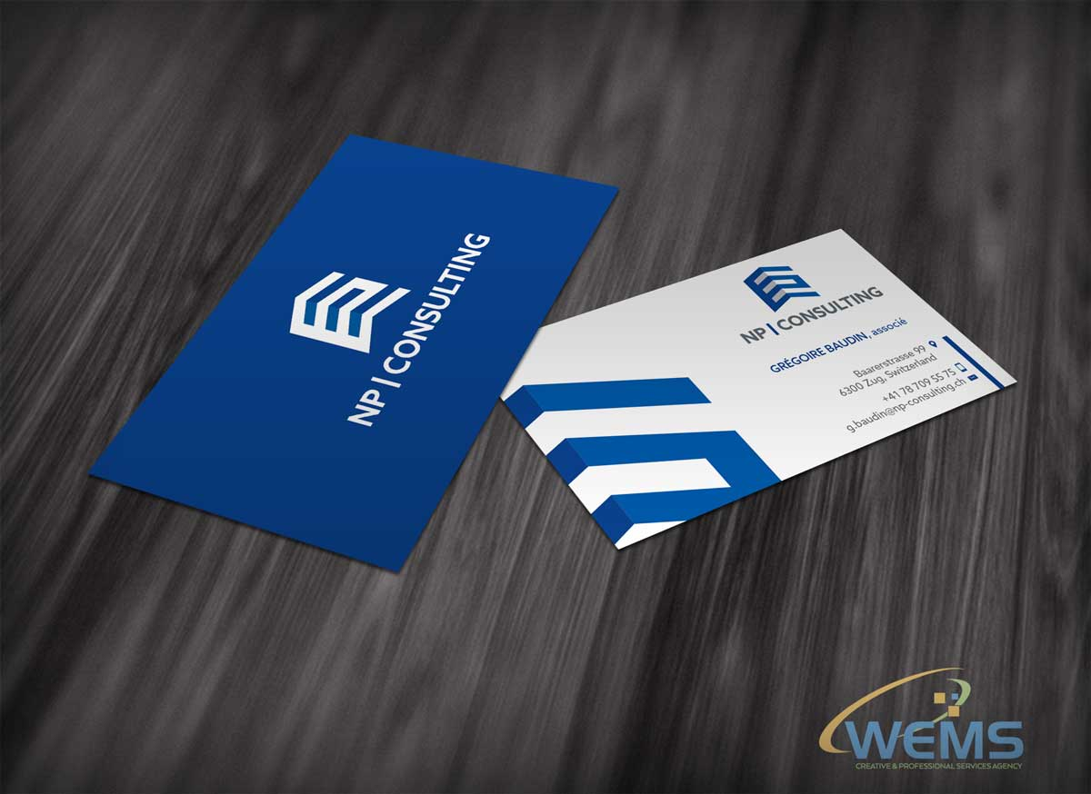 wems np consulting business card - Graphic Design, Logo Design, Corporate Identity Design | WEMS Agency