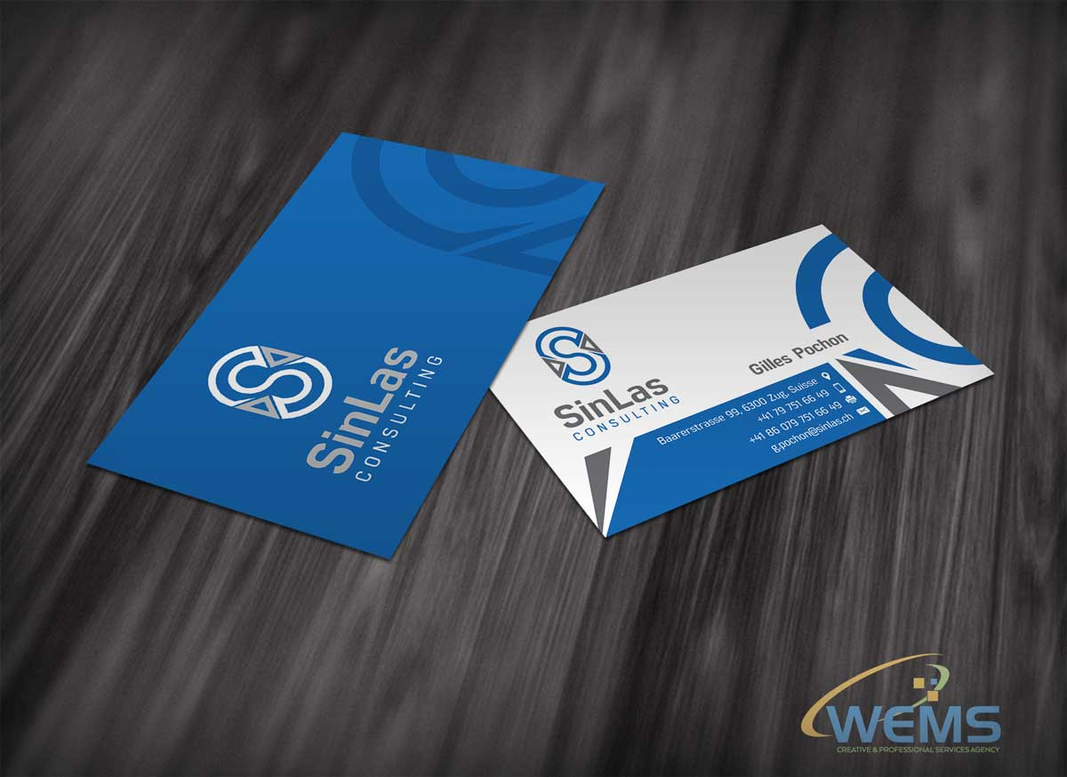 wems sinlas consulting business card - Graphic Design, Logo Design, Corporate Identity Design | WEMS Agency