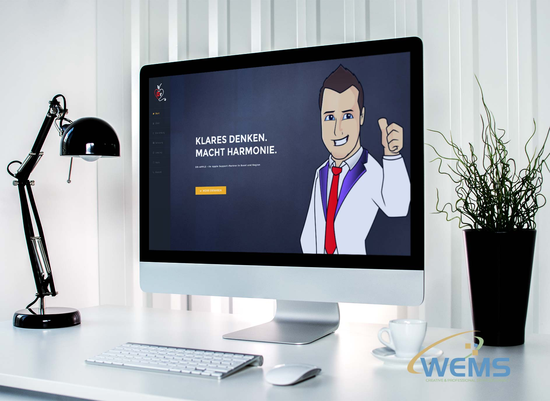 wems webdesign basel dr apple - Webdesign und Suchmaschinenoptimierung (SEO) Agentur