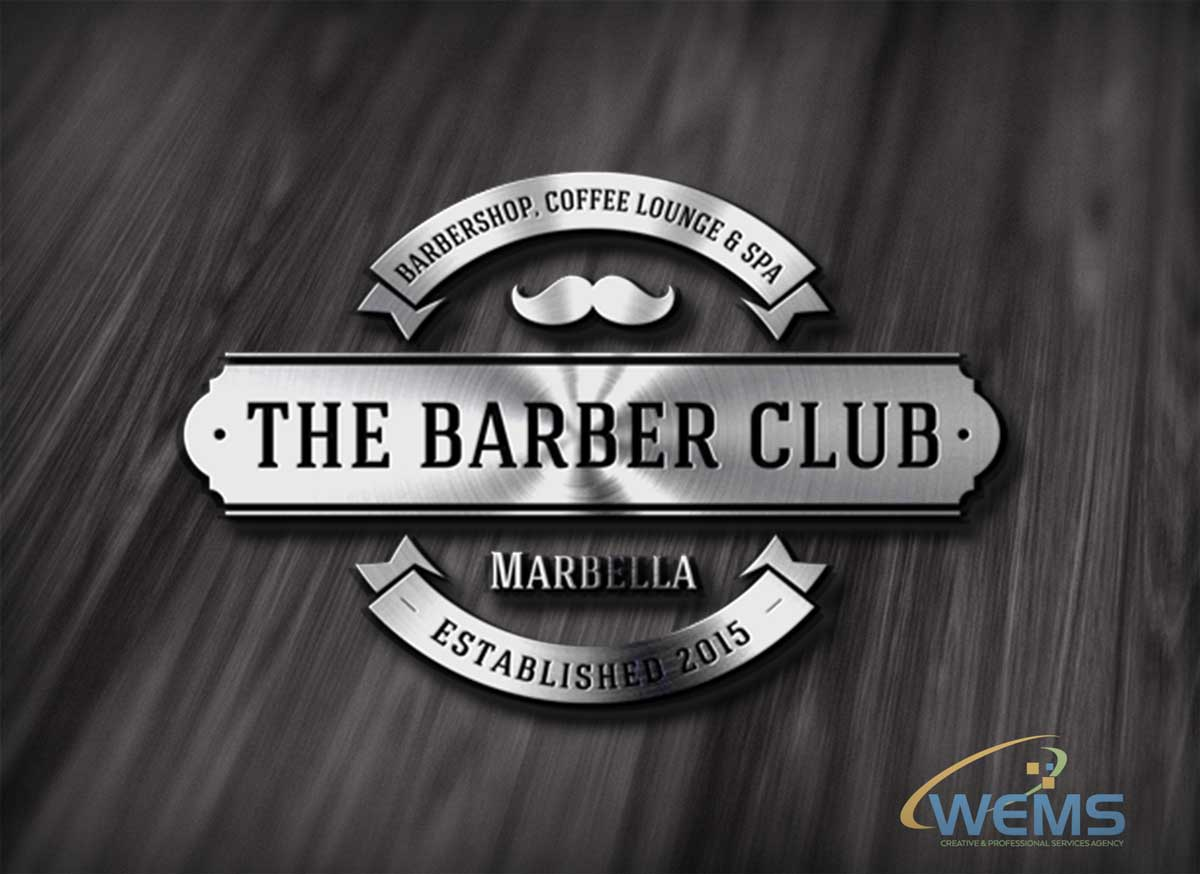 wems barber club marbella logo - Graphic Design, Logo Design, Corporate Identity Design | WEMS Agency