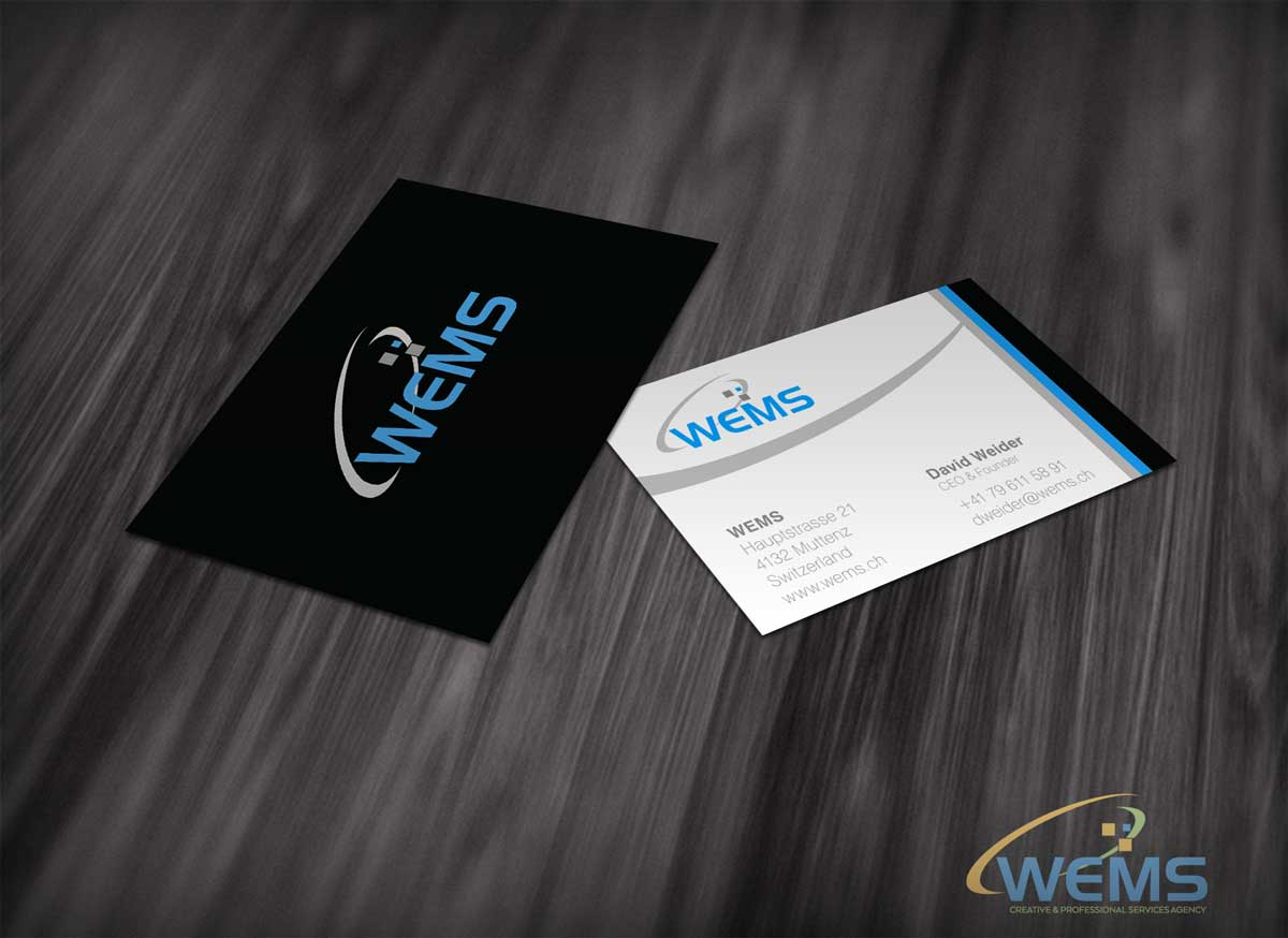 wems business card - Graphic Design, Logo Design, Corporate Identity Design | WEMS Agency