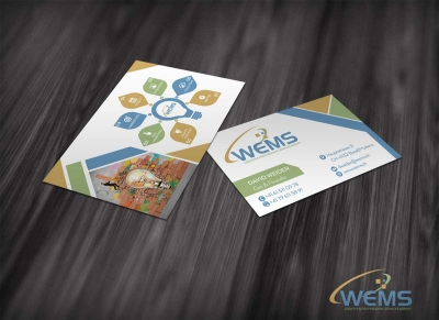 wems business card 1 2 400x291 - Conception graphique - WEMS l'agence qui harmonise