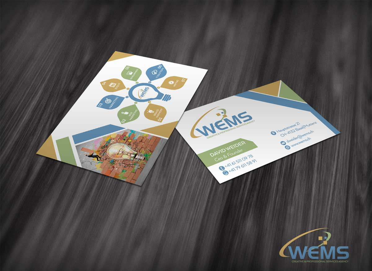 wems business card 1 2 - Conception graphique - WEMS l'agence qui harmonise