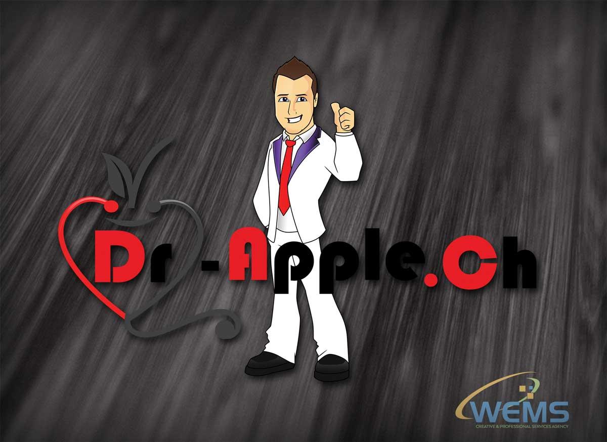 wems dr apple logo 2 - Conception graphique - WEMS l'agence qui harmonise