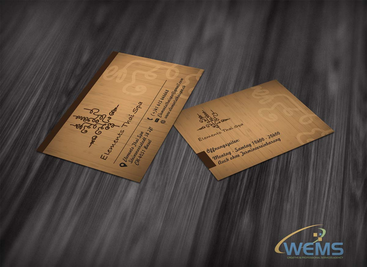 wems elements thai spa - Graphic Design, Logo Design, Corporate Identity Design | WEMS Agency