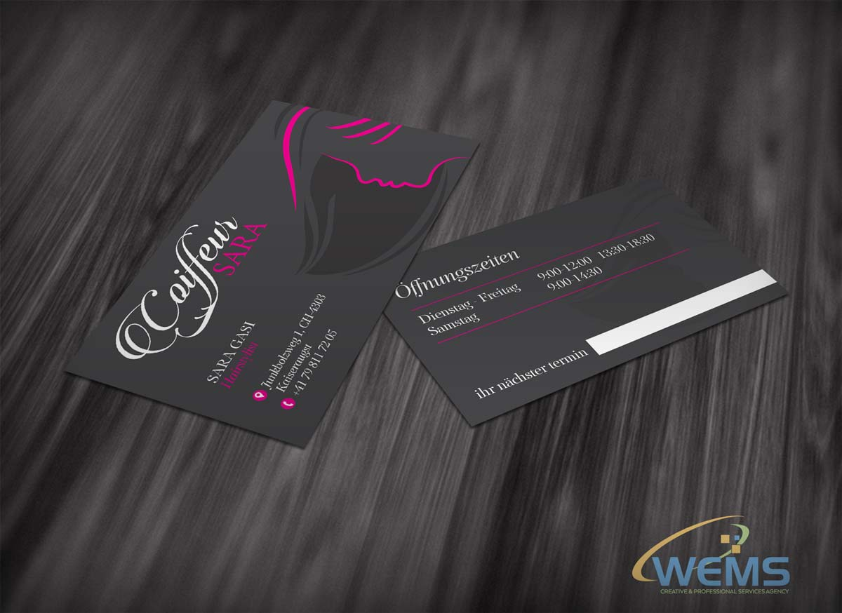 wems sara coiffeur - Graphic Design, Logo Design, Corporate Identity Design | WEMS Agency